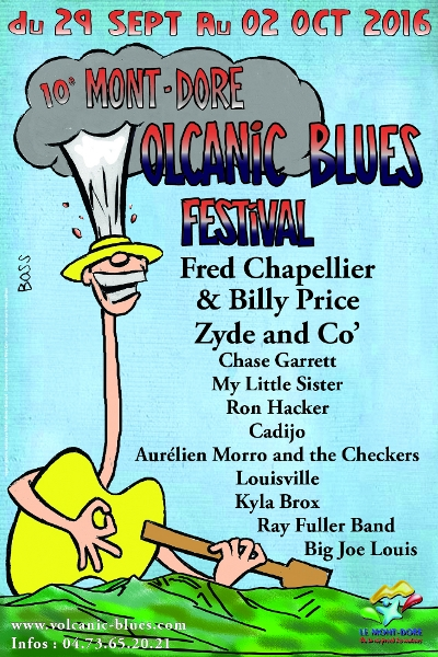 Volcanic Blues Festival 2016, 29 septembre au 2 octobre